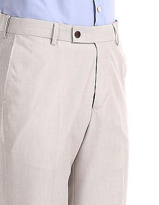 Arrow Regular Fit Patterned Trousers