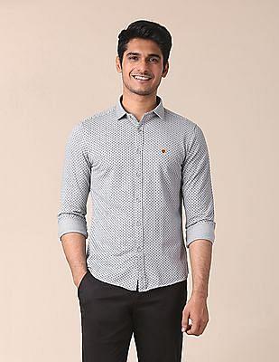 True Blue Slim Fit Knitted Shirt