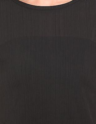 Elle Striped Patterned Knit Top