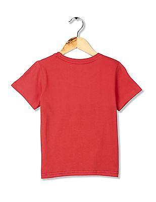FM Boys Boys Slim Fit Colour Block T-Shirt
