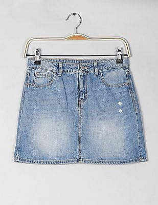GAP Girls Blue 1969 Classic Denim Skirt