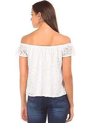 Aeropostale Lace Off Shoulder Top