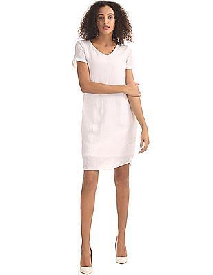 Elle Crinkled A-Line Dress