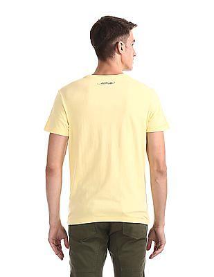 Ed Hardy Regular Fit Printed Studded T-Shirt