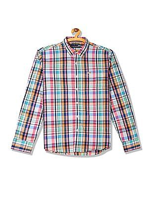 Flying Machine Regular Fit Spread Collar Shirt