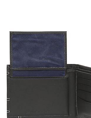 Flying Machine Contrast Stitch Leather Bi-Fold Wallet