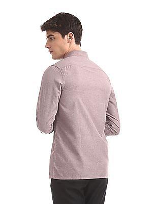 Excalibur Assorted Semi Cutaway Collar Solid Shirt - Pack Of 2