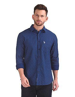 U.S. Polo Assn. Long Sleeve Printed Shirt