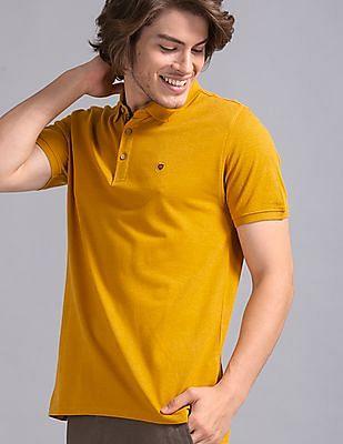 True Blue Yellow Cotton Modal Pique Polo Shirt