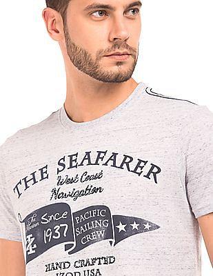 Izod Printed Heathered T-Shirt