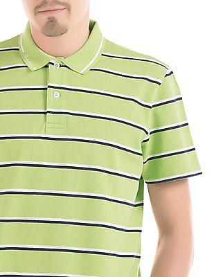 Gant Striped Short Sleeve Polo Shirt