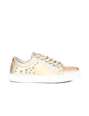 Stride Gold Stud Embellished Low Top Sneakers