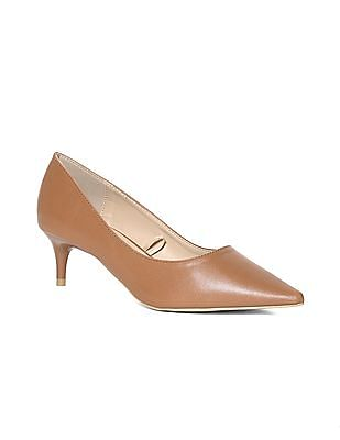 Stride Brown Point Toe Solid Pumps
