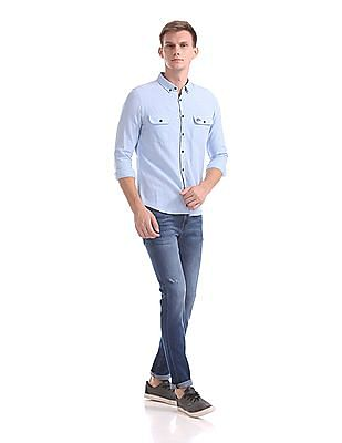 U.S. Polo Assn. Denim Co. Regallo Skinny Fit Whiskered Jeans