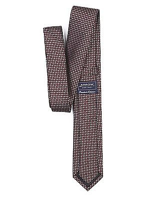 Arrow Geometric Jacquard Tie