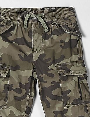 GAP Green Toddler Boy Lined Cargo Pants