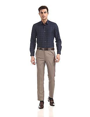 Arrow Newyork Skinny Fit Patterned Check Shirt