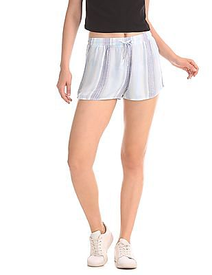 Aeropostale Striped Woven Shorts