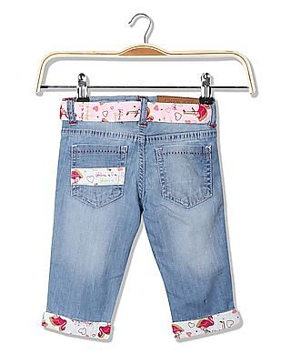 Cherokee Girls Slim Fit Cropped Jeans