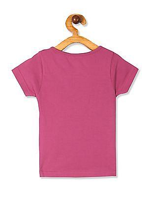 Cherokee Purple Girls Bicycle Print Cotton T-Shirt