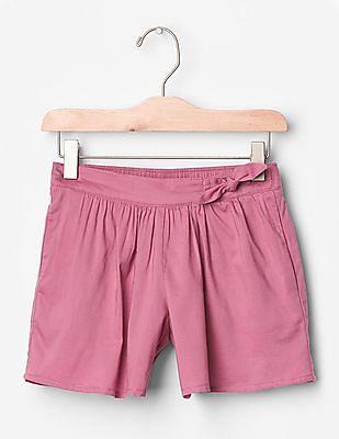 GAP Girls Pink Knot Bow Soft Shorts