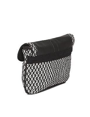 SUGR Buckle Tab Patterned Sling Bag