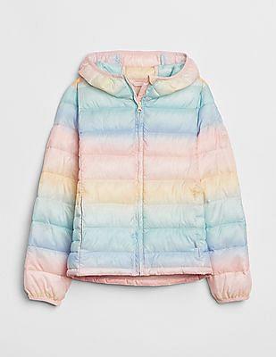 GAP Girls Cold Control Lite Print Puffer Jacket