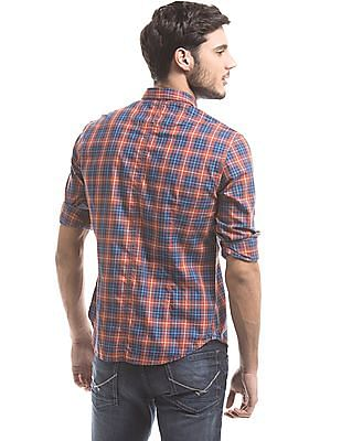 U.S. Polo Assn. Denim Co. Plaid Slim Fit Shirt