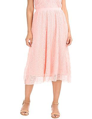 Elle Studio Lace Midi Skirt