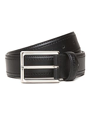 U.S. Polo Assn. Stitch Detail Leather Belt