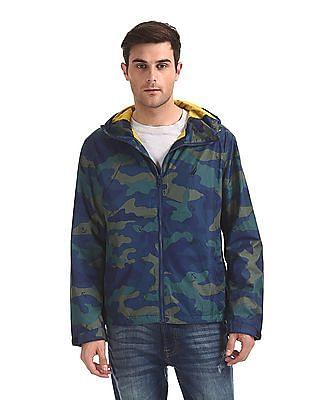 Nautica Camo Print Hooded Jacket