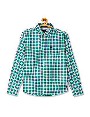 Flying Machine Spread Collar Cotton Shirt