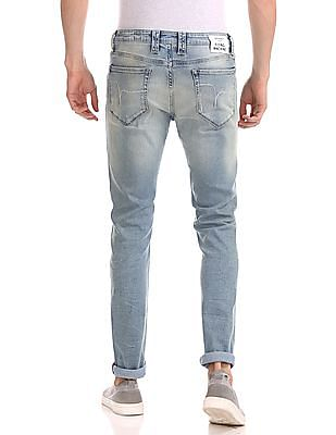 Flying Machine Jackson Skinny Fit Distressed Jeans