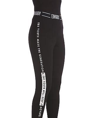 EdHardy Women Elasticized Waist Printed Leggings