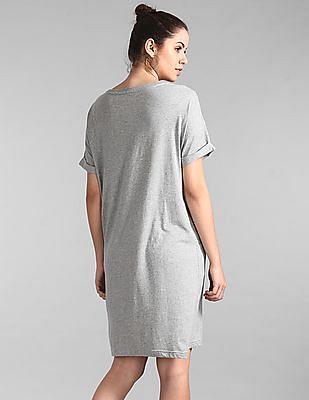 GAP Grey Logo T-Shirt Dress