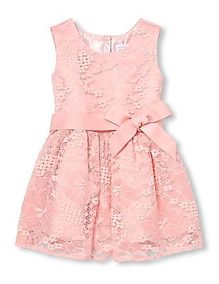 The Children's Place Toddler Girl Sleeveless Floral Lace Woven Dress