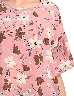 U.S. Polo Assn. Women Floral Print Boxy Top