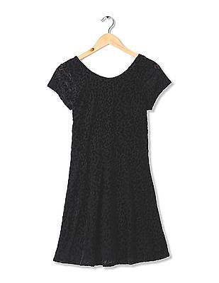 Aeropostale Round Neck Fit And Flare Dress
