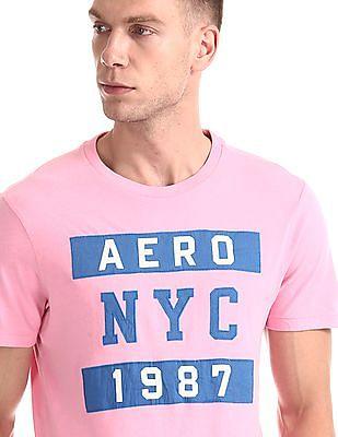 Aeropostale Crew Neck Appliqued T-Shirt