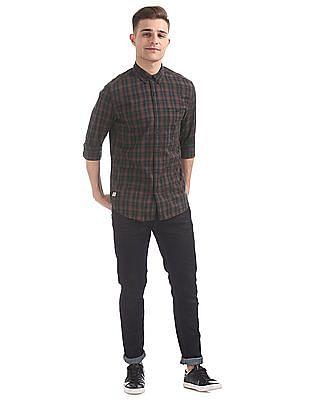 Ed Hardy Button Down Collar Check Shirt