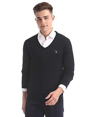 Gant Original Cotton Lux V-Neck Sweater