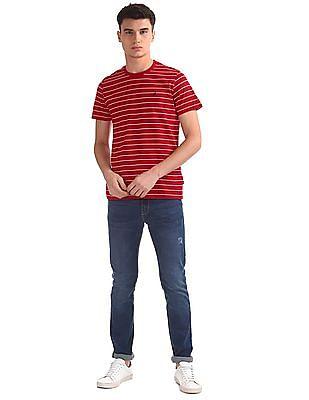 Nautica Short Sleeve Yarn Dyed Stripe Crew Neck T-Shirt