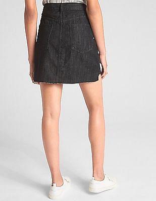 GAP Five Pocket Dark Washed Mini Skirt