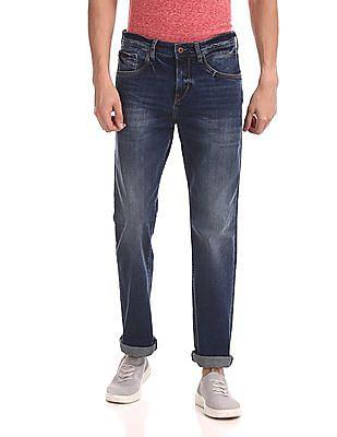Flying Machine Django Regular Fit Washed Jeans