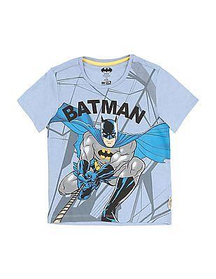 FM Boys Boys Crew Neck Batman Printed T-Shirt