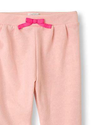 The Children's Place Girls Pink Metallic-Threaded Knit Harem Pants