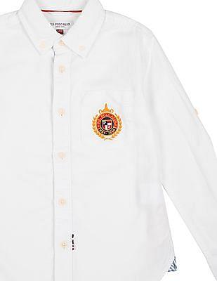 U.S. Polo Assn. Kids Boys Button Down Collar Cotton Shirt
