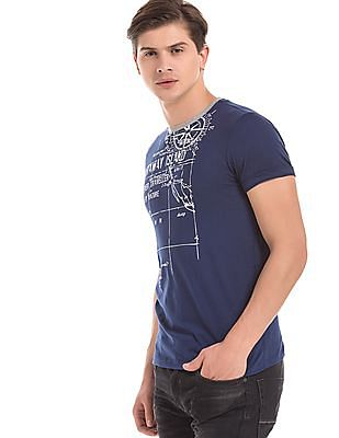 Cherokee Slim Fit Graphic Print T-Shirt
