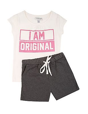 Cherokee Girls T-Shirt And Shorts Set