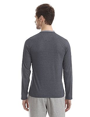 Ruggers Blue Heathered Henley T-Shirt